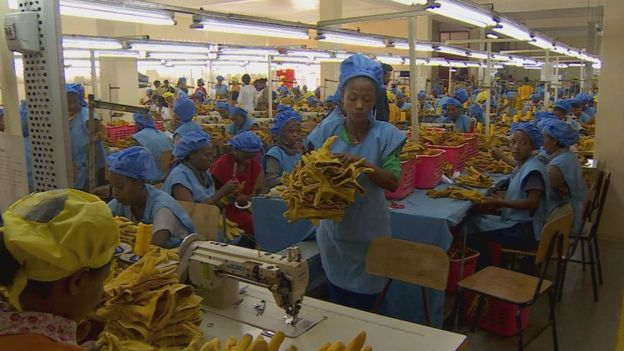 Hawassa Industrial Park factory workers. (BBC)