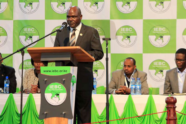 Wafula Chebukati Independent Electoral and Boundaries Commission Chairman. (The Citizen)