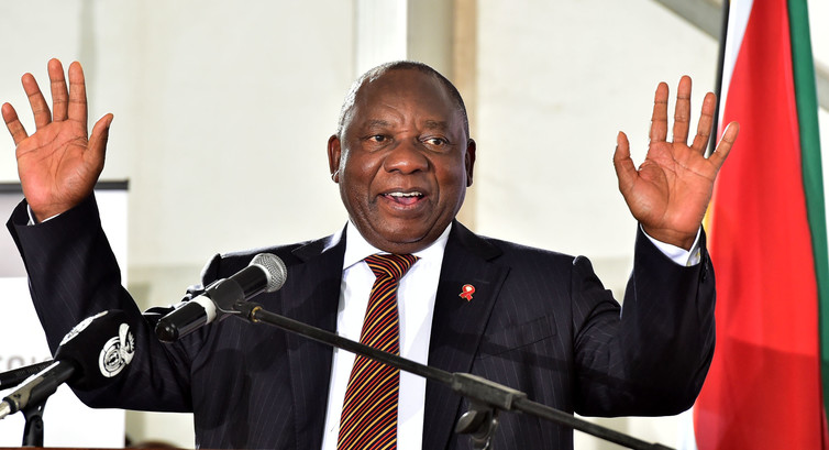 South African Deputy President Cyril Ramaphosa. (AFP)