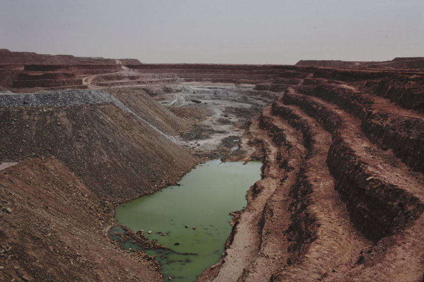 An open-air uranium mine at facility run by Areva, in Arlit, Niger. (REUTERS/JOE PENNEY)
