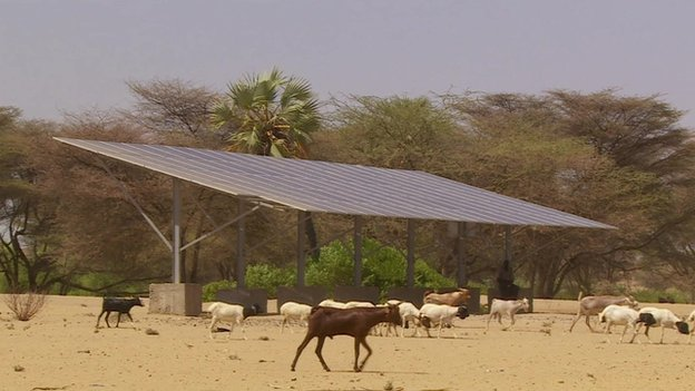 Is the sun the answer to Africa's energy problems? Analysts believe solar power could be the world's largest source of power by 2050. (Photo: BBC)