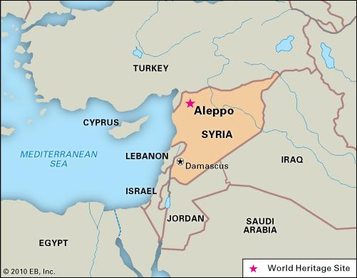 Map of Syria. (AFP)