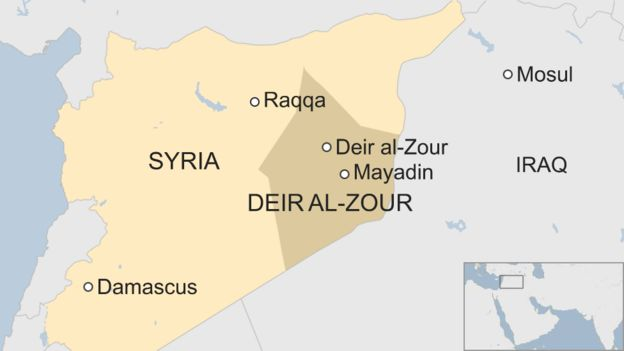 Map of Syria.(BBC)
