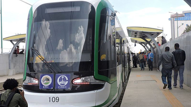 The light rail system in Addis Ababa. (Wikimedia)