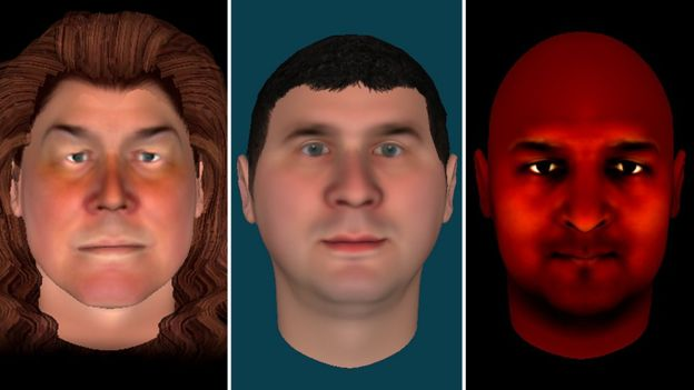 Three avatars created by people taking part in the therapy. (Kings college London)