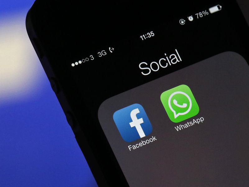 Image of WhatsApp & Facebook.(AFP)