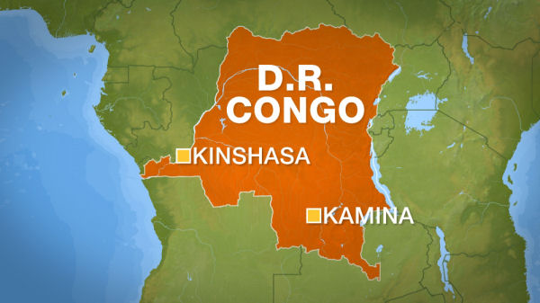 Map of DRC. (AFP)