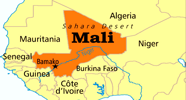 Map of Mali. (AFP)