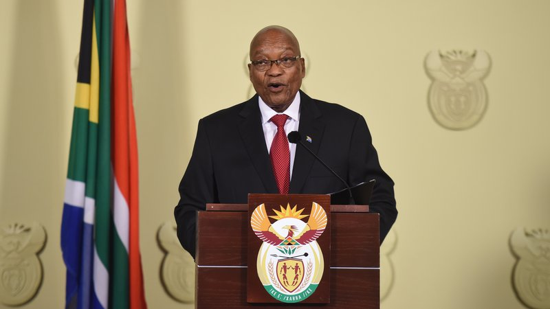 Jacob Zuma announced his resignation as President of South Africa. February 14, 2018. (AFP)