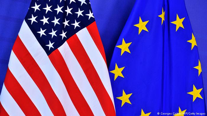 USA and EU flag. (AFP)