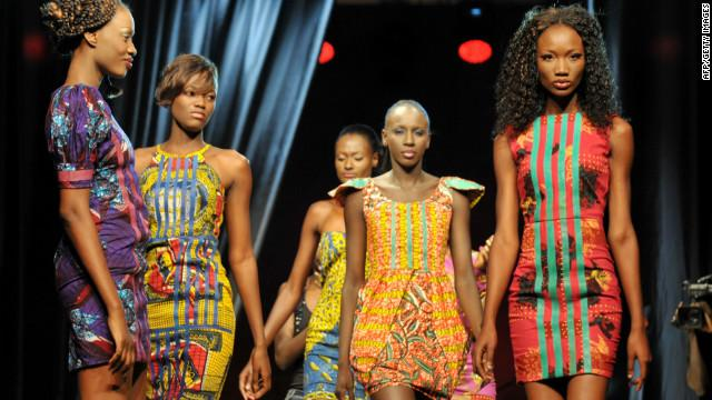 Colorful creations from Senegalese designer Adama Amanda Ndiaye -The name behind the Adama Paris label. (Photo AFP/Getty Images)