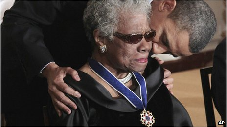 President Barack Obama gave Angelou the Presidential Medal of Freedom in 2011.(AP)