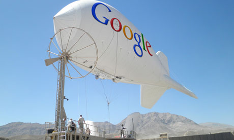 A Photoshop mockup of a Google wi-fi balloon. Photograph: (Image: Isafmedia/Wired magazine)