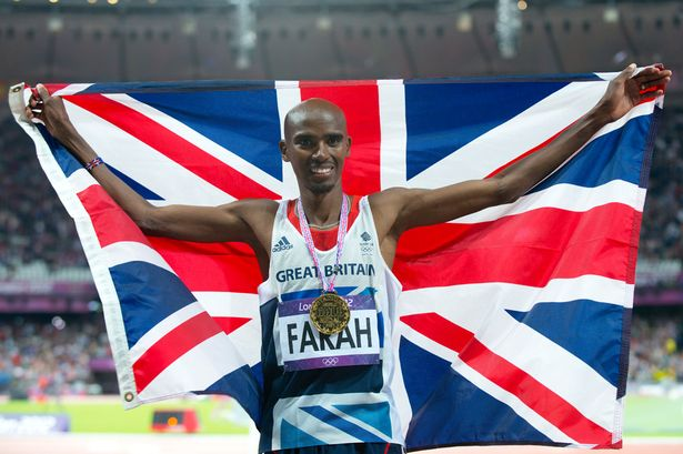 Mo Farah becomes the seventh man and the first Briton to win both the 10,000m and 5,000m events at an Olympic Games. (Photo: Mirror/Rowan Griffiths)