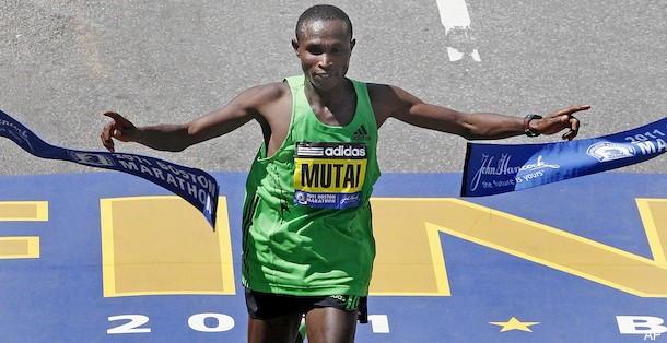 Mutai Wins Boston Marathon in Record 2:03:02. Photo: Associated Press